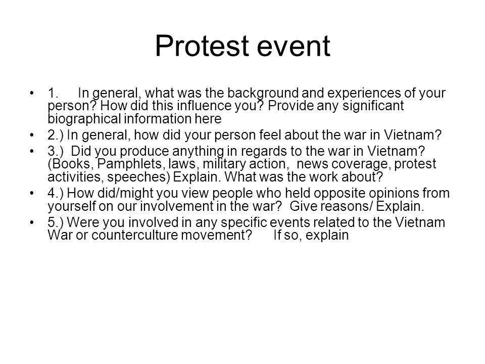 Protest event