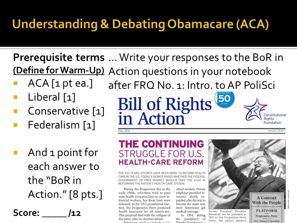 Understanding & Debating Obamacare (ACA)