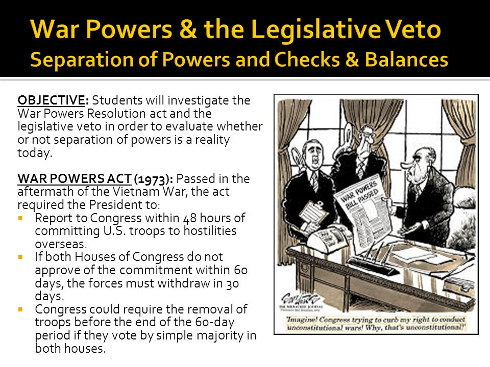essay on the war powers act War powers act: war powers act, law passed by the us congress on november 7, 1973, over the veto of pres richard nixon the joint measure was called the war powers.