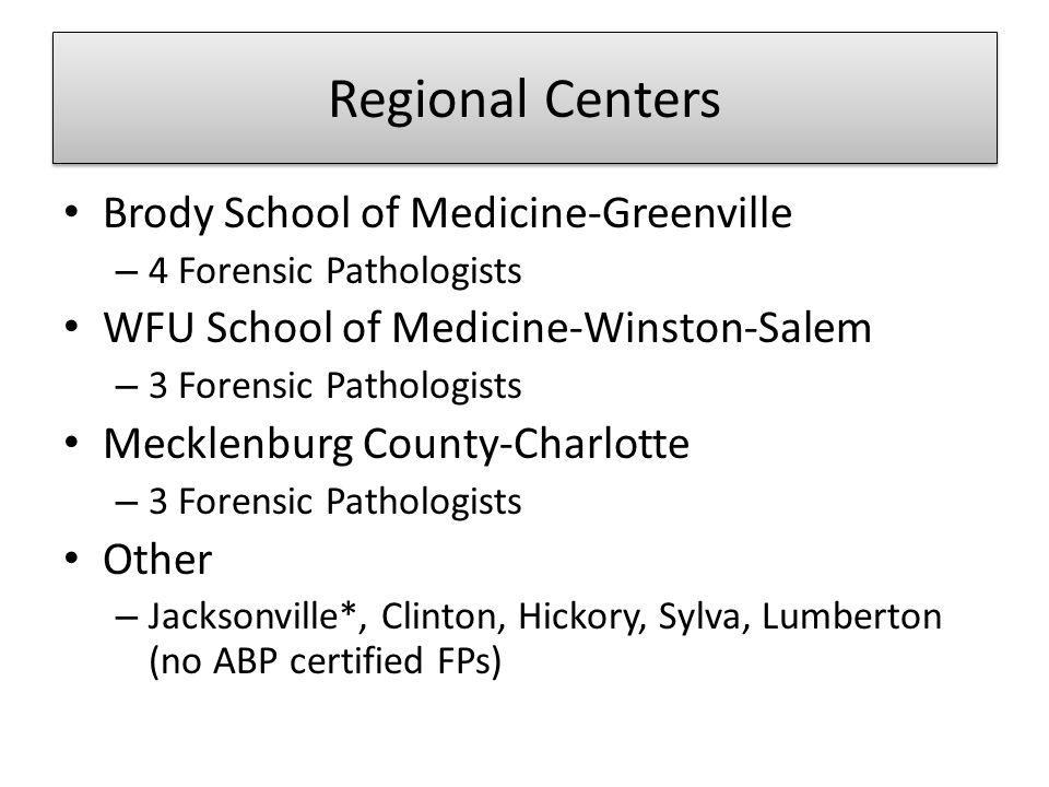 Regional Centers Brody School of Medicine-Greenville