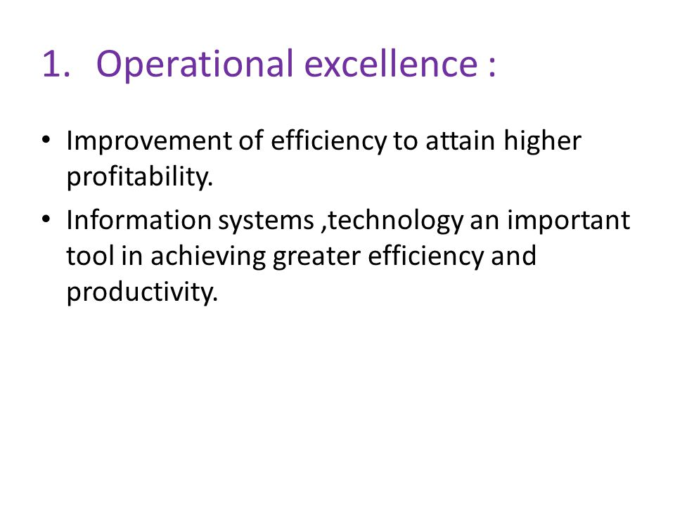 Operational excellence :