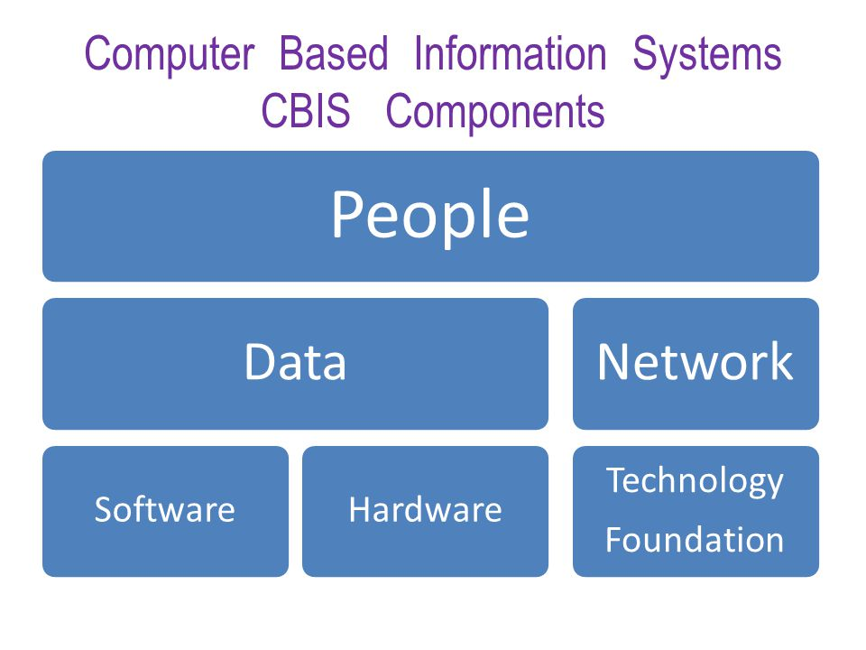 Computer Based Information Systems CBIS Components