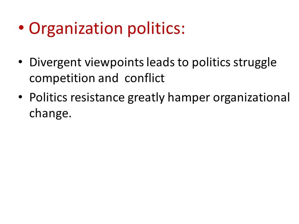 Organization politics: