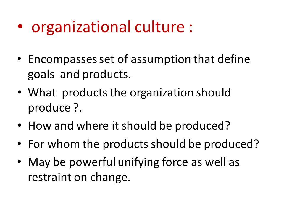 organizational culture :