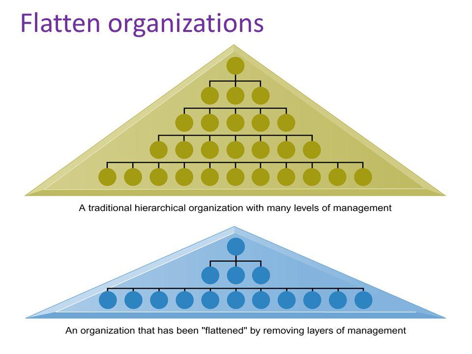 Flatten organizations