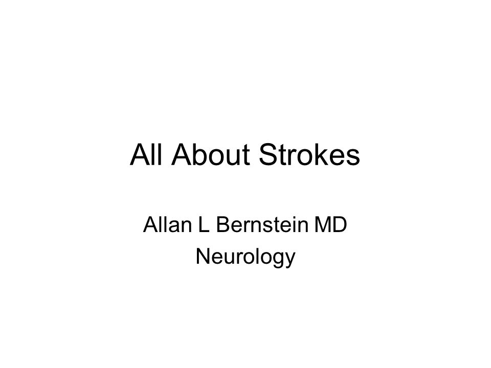 Allan L Bernstein MD Neurology