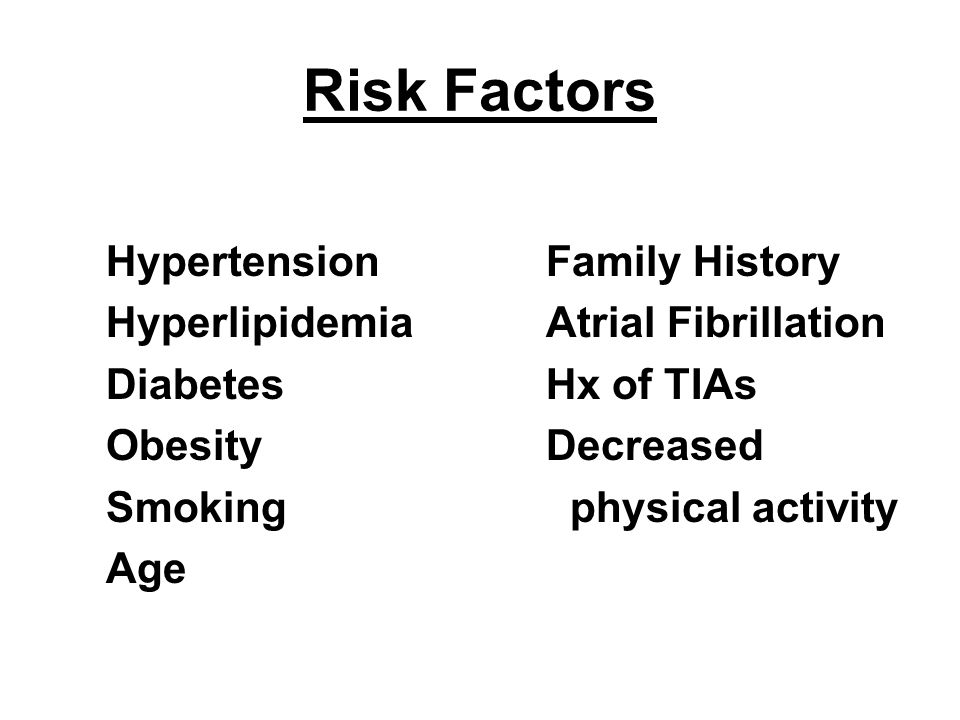 Risk Factors Hypertension Hyperlipidemia Diabetes Obesity Smoking Age