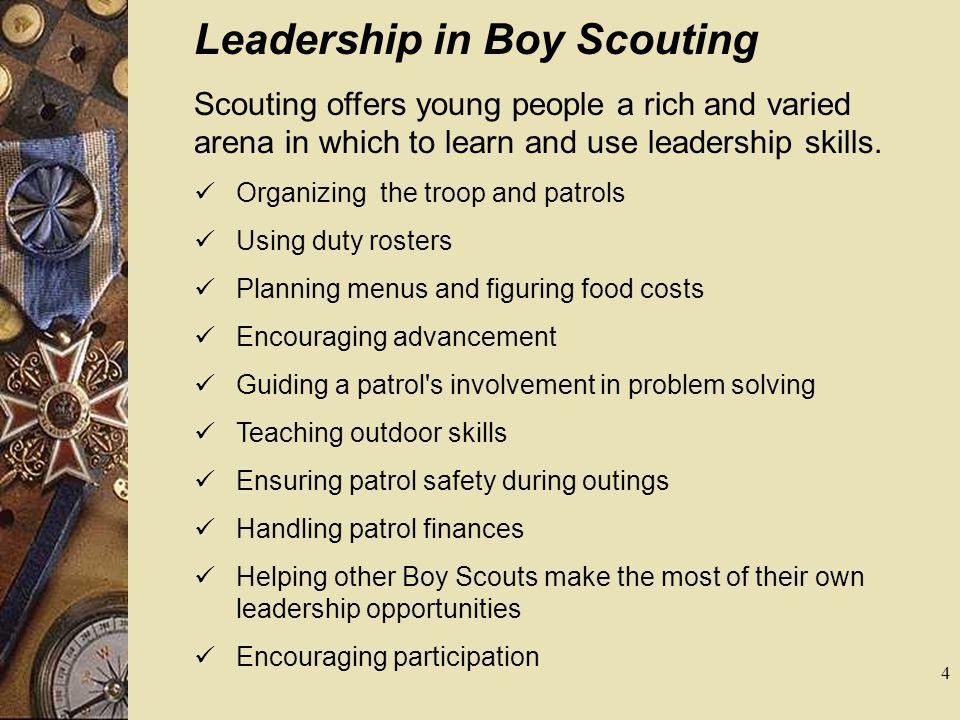 Leadership in Boy Scouting