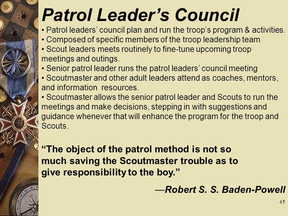 Patrol Leader's Council