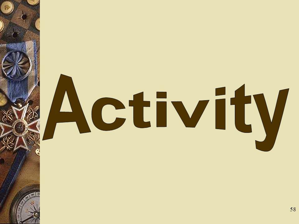 Activity Tie a shoe