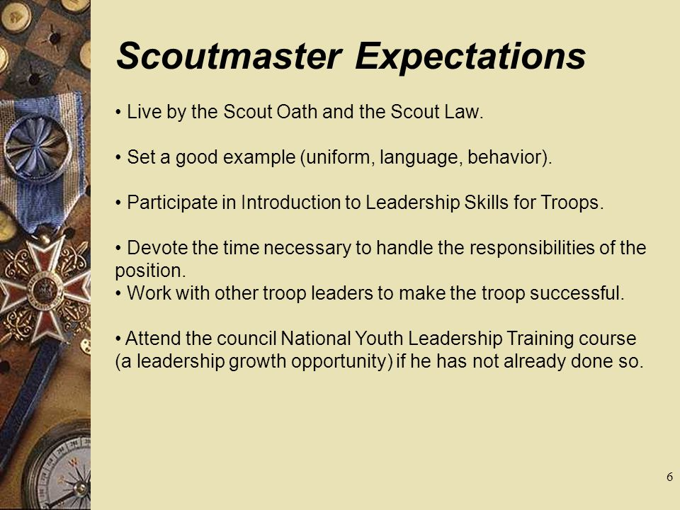 Scoutmaster Expectations
