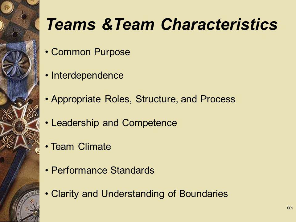 Teams &Team Characteristics