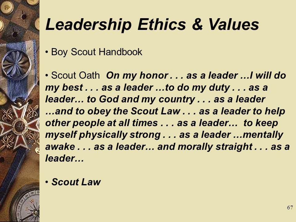 Leadership Ethics & Values