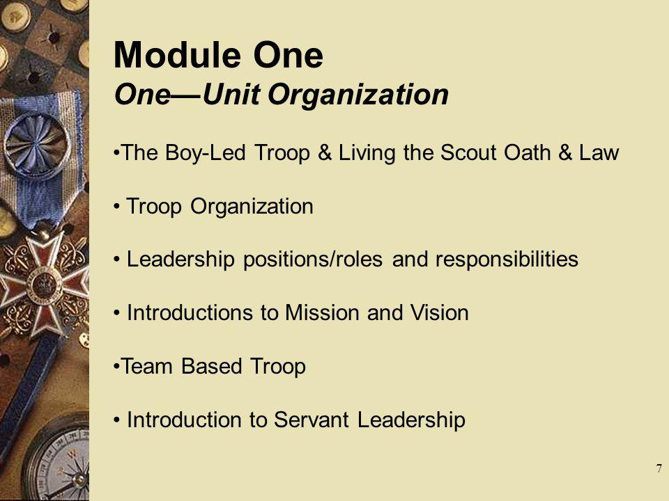 Module One One—Unit Organization