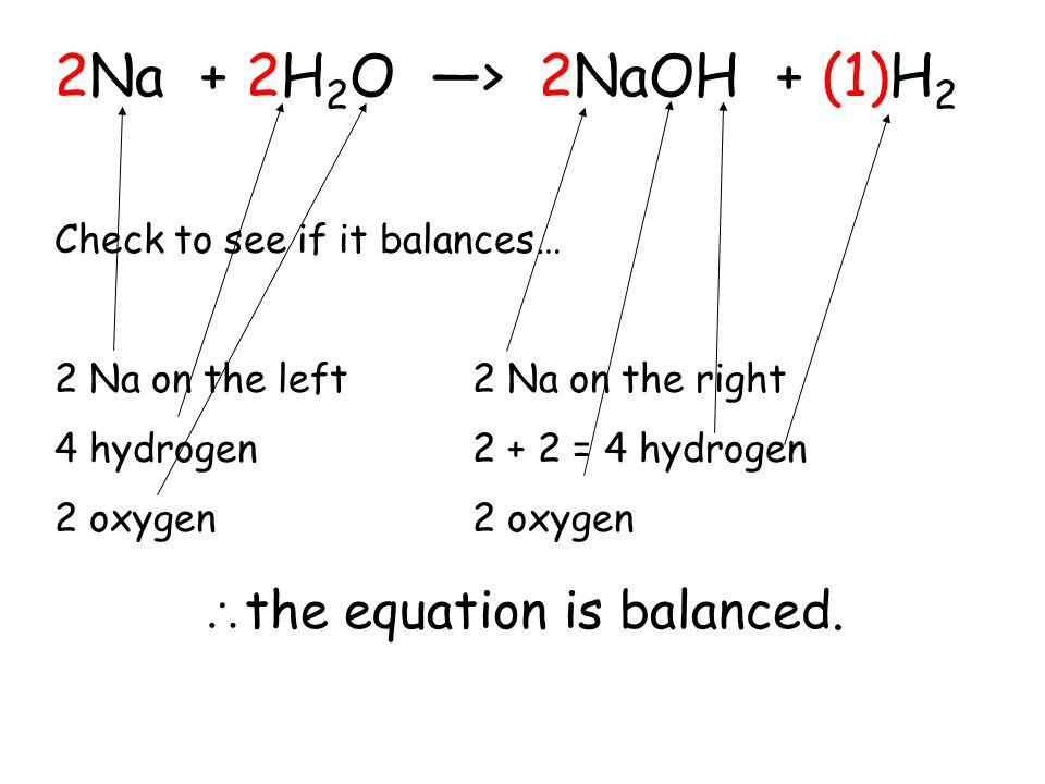 the equation is balanced.