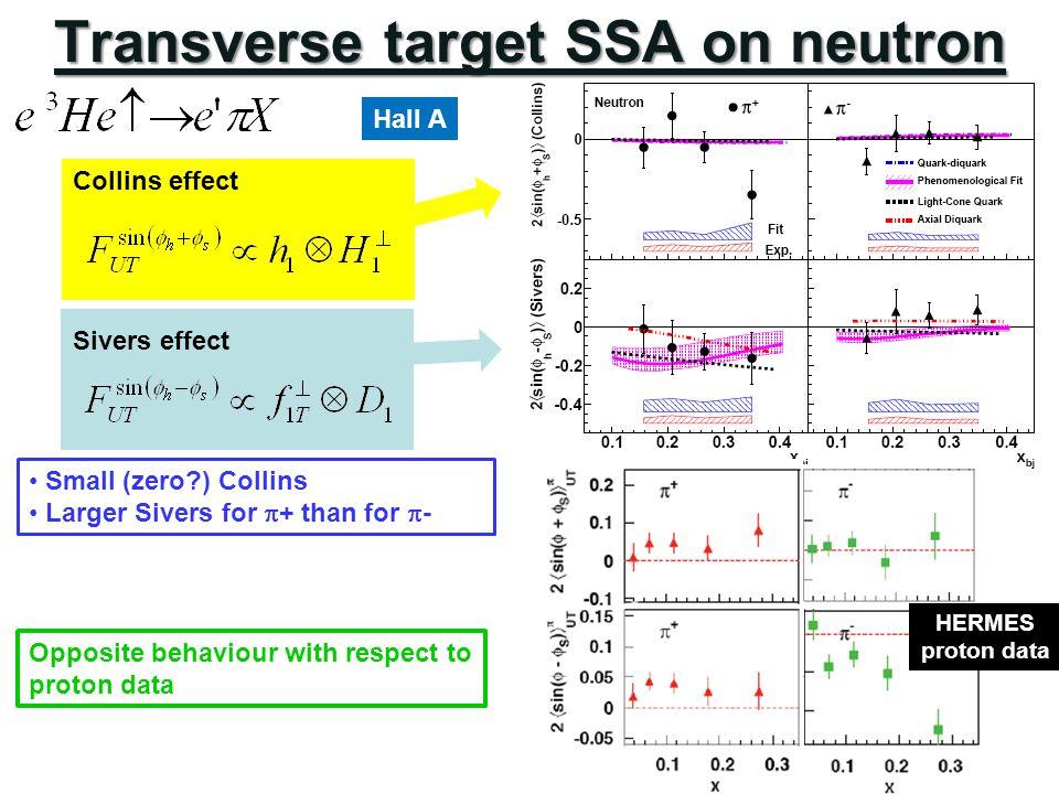 Transverse target SSA on neutron