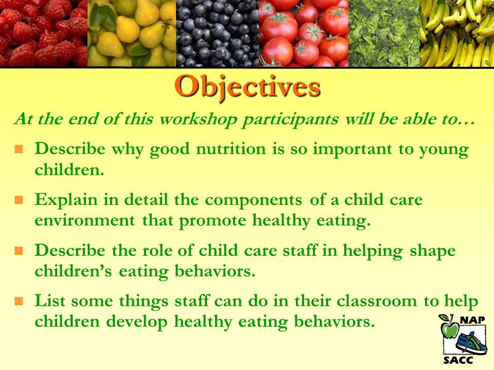 Objectives At the end of this workshop participants will be able to…