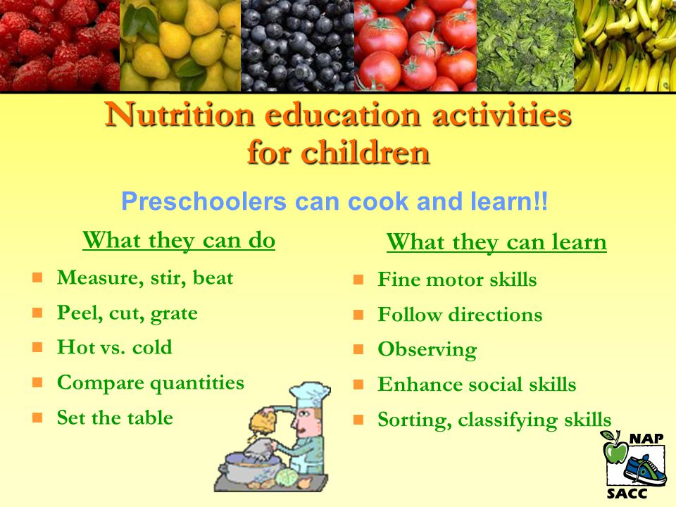 Nutrition education activities for children