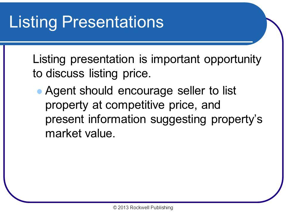 Listing Presentations