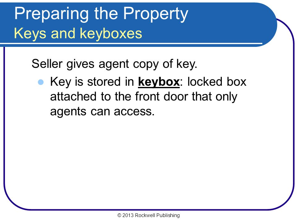 Preparing the Property Keys and keyboxes