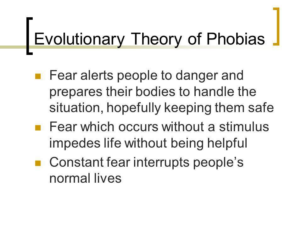 Evolutionary Theory of Phobias