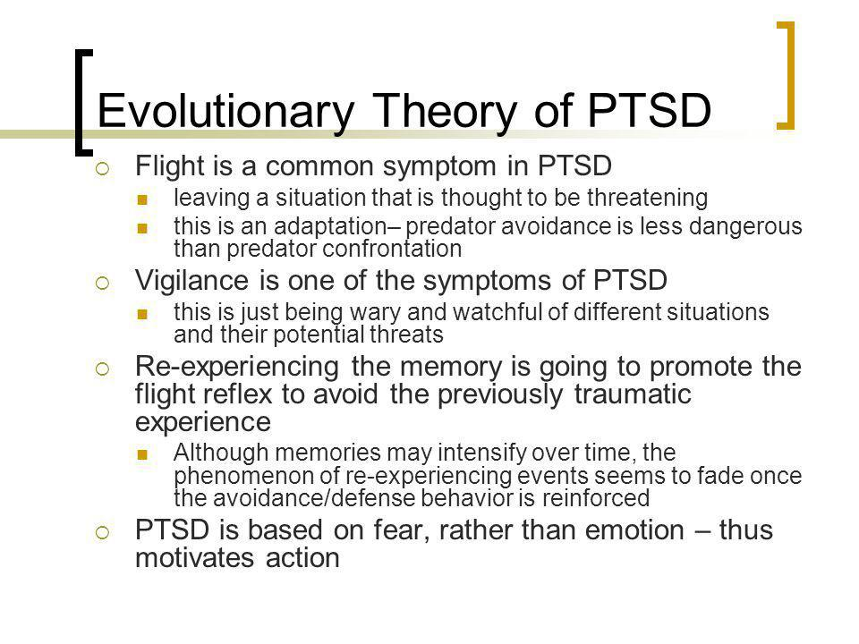 Evolutionary Theory of PTSD