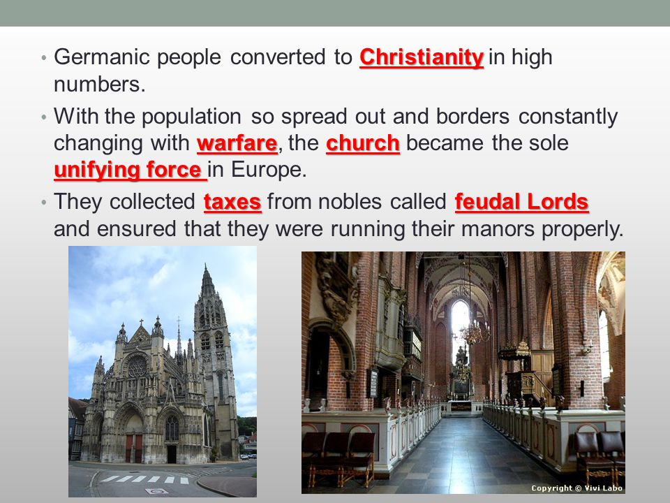 Germanic people converted to Christianity in high numbers.