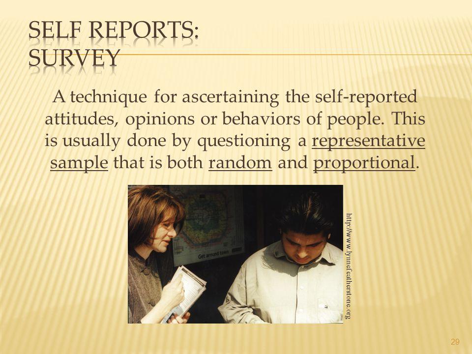 Self Reports: Survey