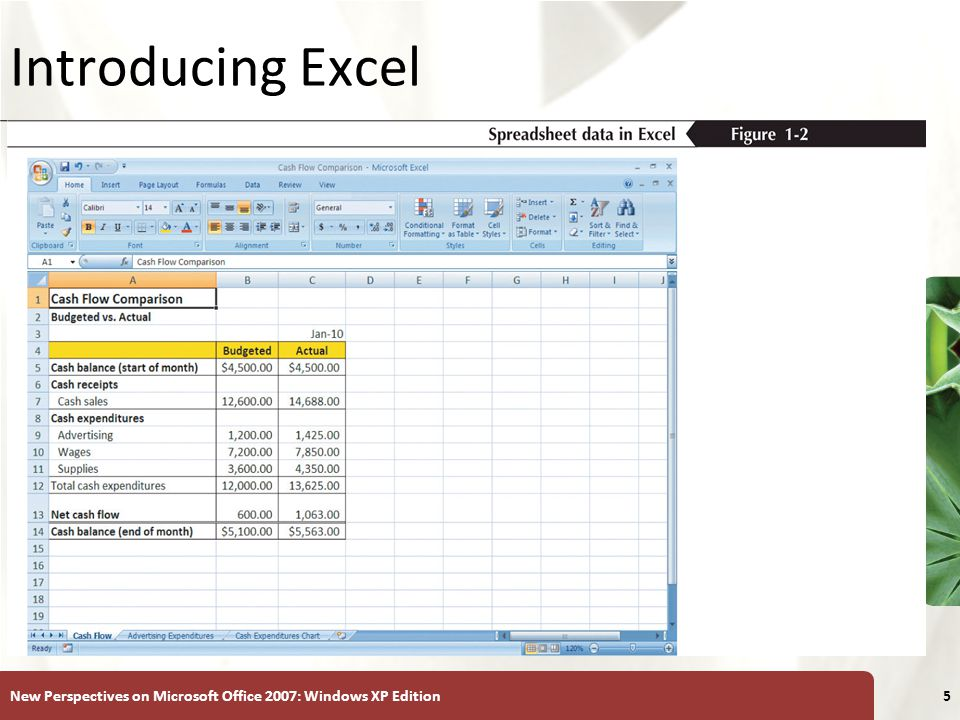 Introducing Excel New Perspectives on Microsoft Office 2007: Windows XP Edition