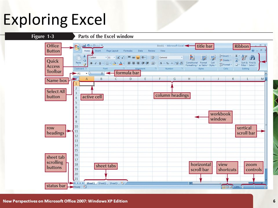 Exploring Excel New Perspectives on Microsoft Office 2007: Windows XP Edition