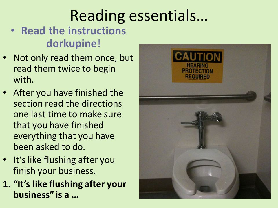 Read the instructions dorkupine!