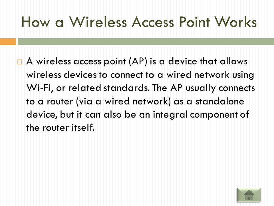 How a Wireless Access Point Works