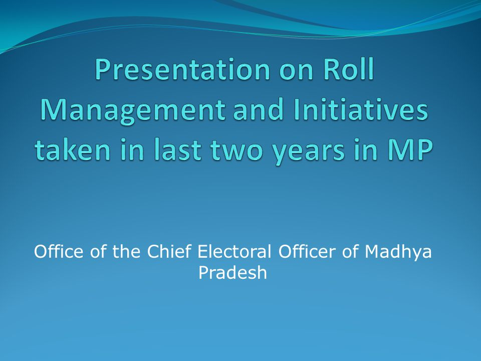 Office of the Chief Electoral Officer of Madhya Pradesh