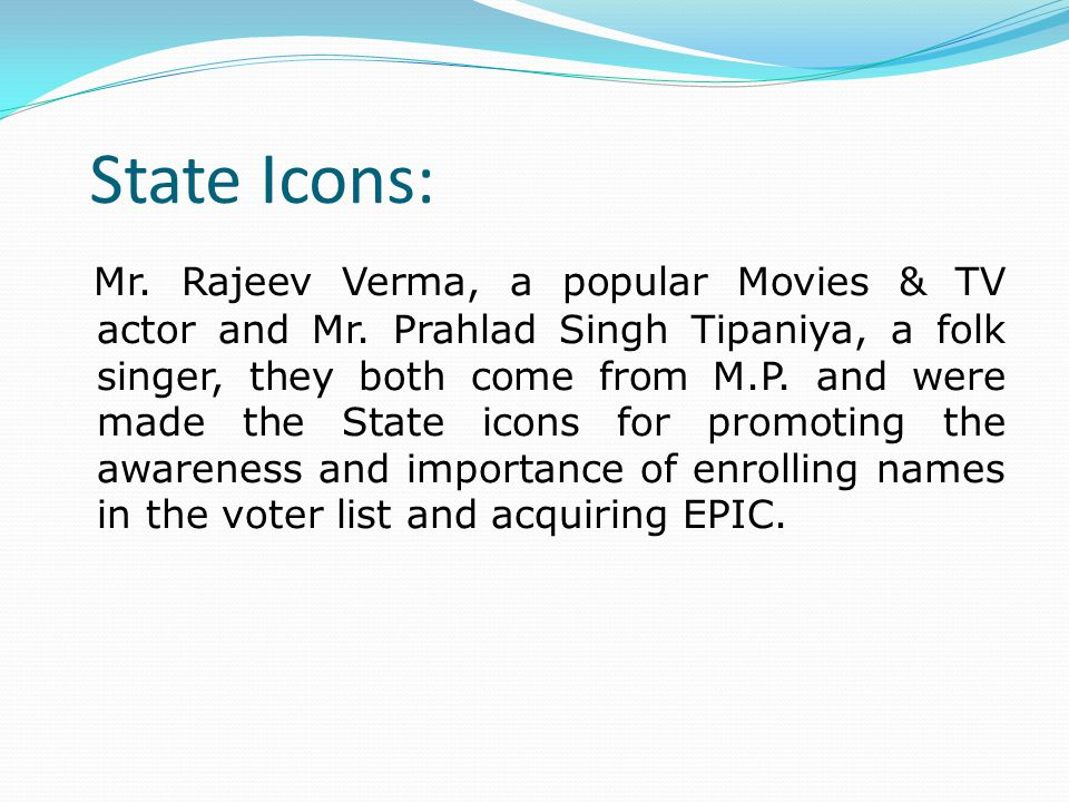 State Icons: