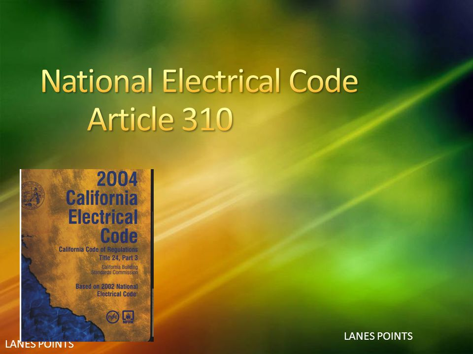 National Electrical Code Article 310