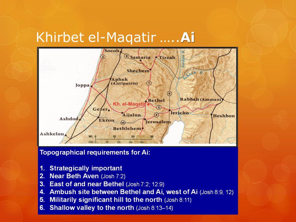 Khirbet el-Maqatir …..Ai