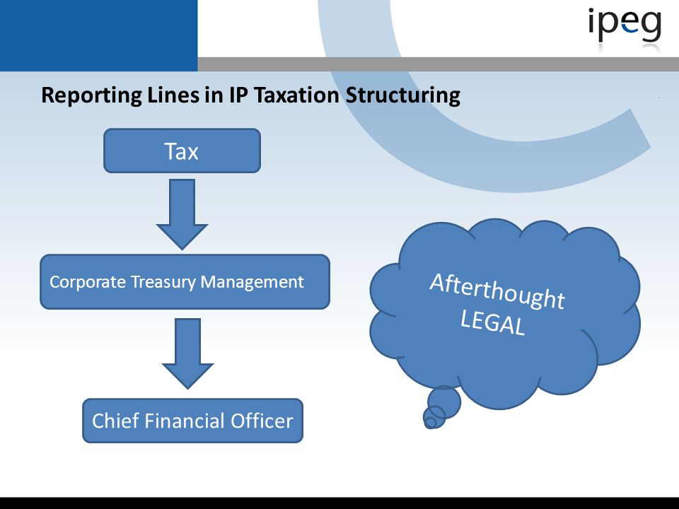 Reporting Lines in IP Taxation Structuring