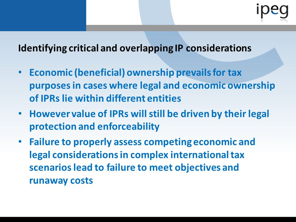 Identifying critical and overlapping IP considerations