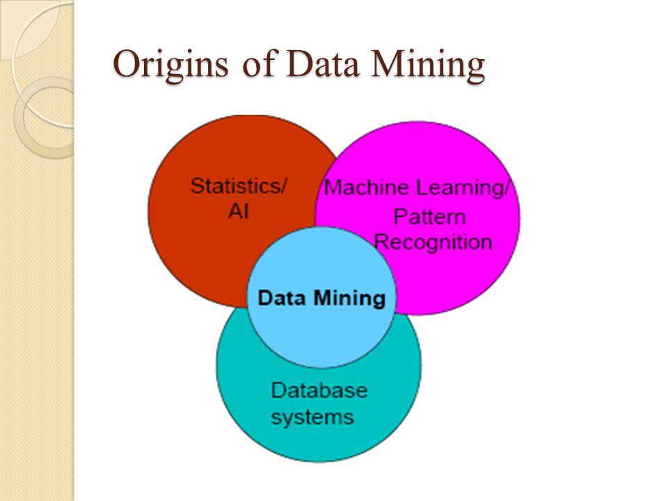 Origins of Data Mining