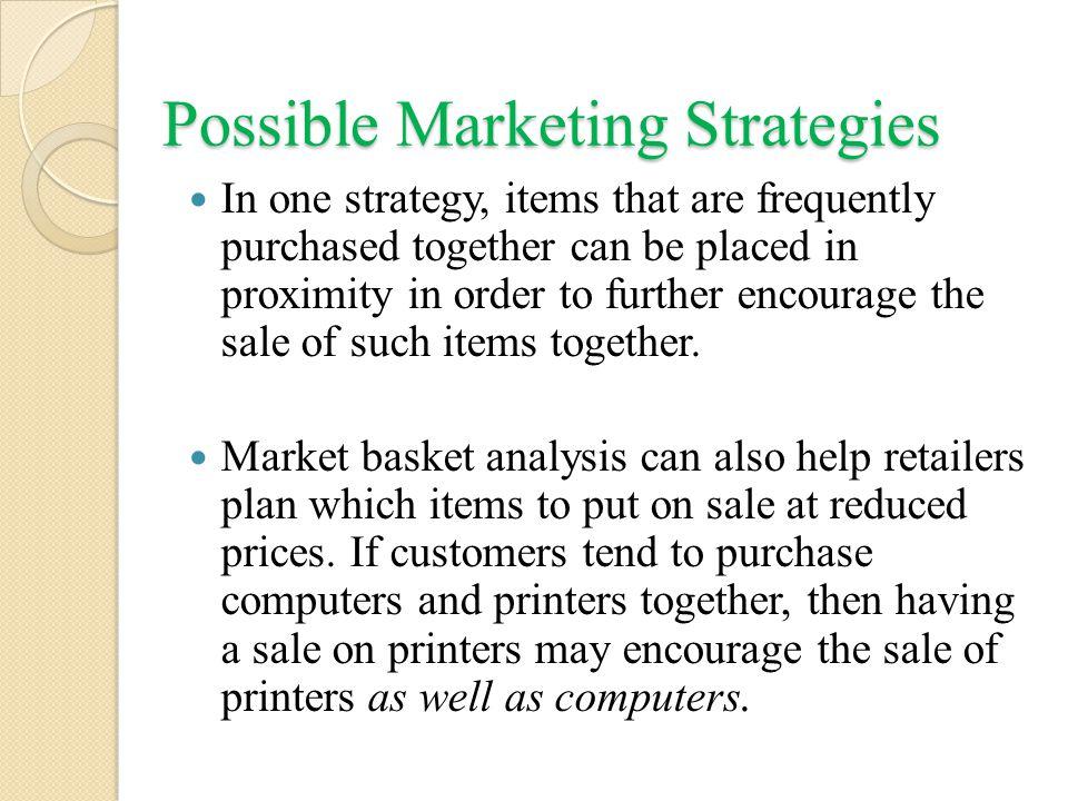 Possible Marketing Strategies