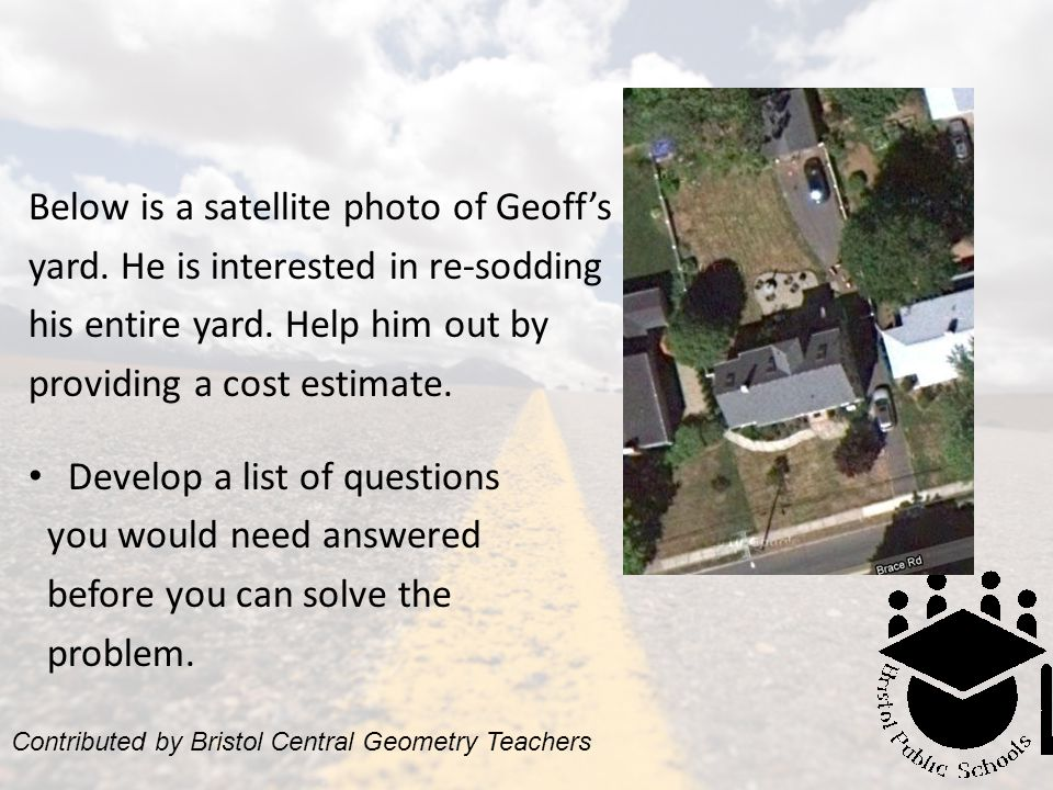 Below is a satellite photo of Geoff's