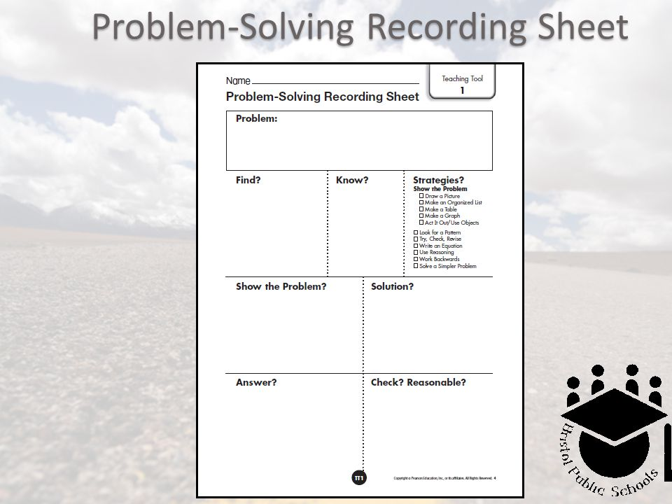 Problem-Solving Recording Sheet
