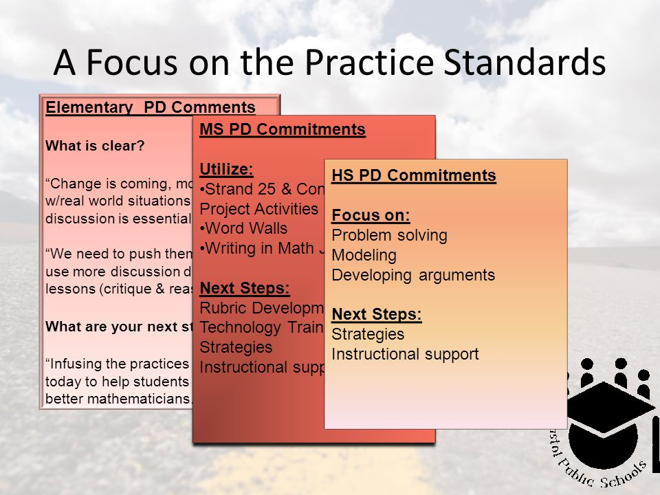 A Focus on the Practice Standards