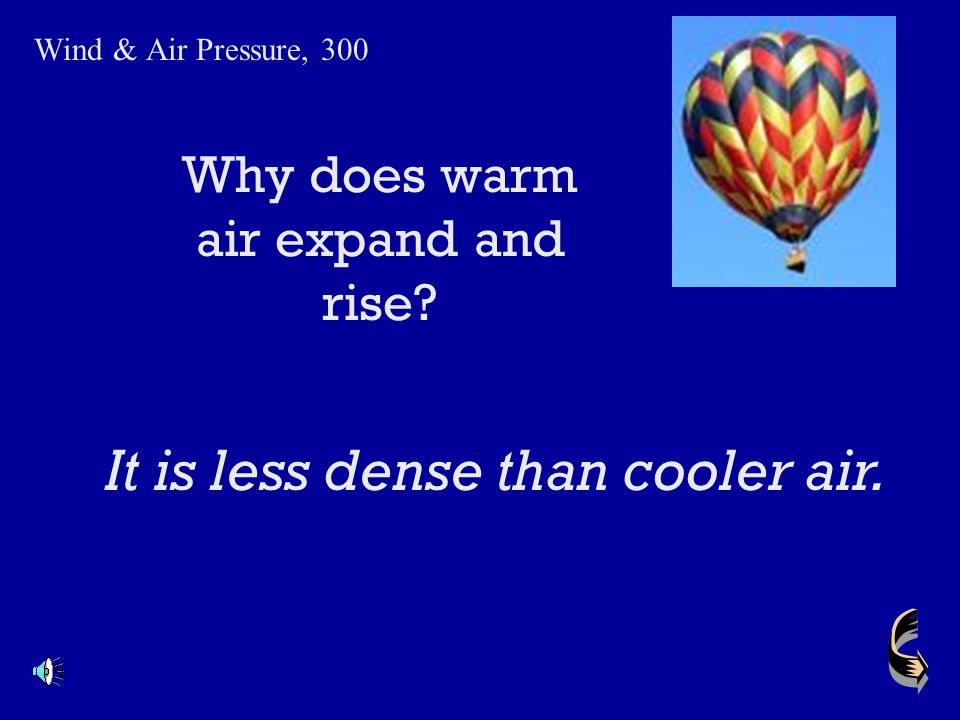 Why does warm air expand and rise