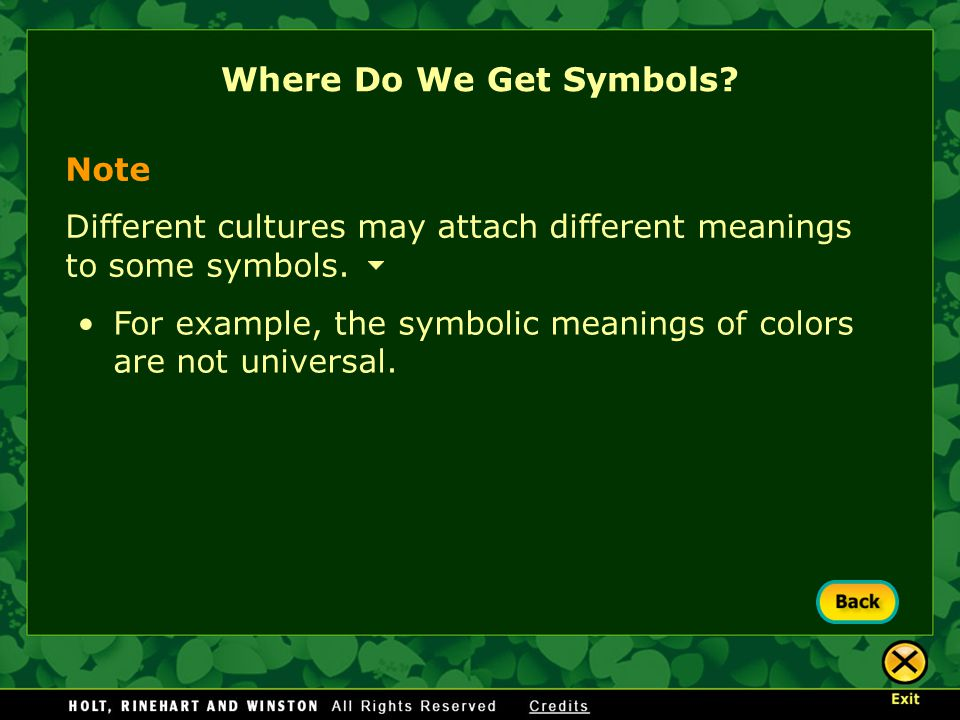 Where Do We Get Symbols Note