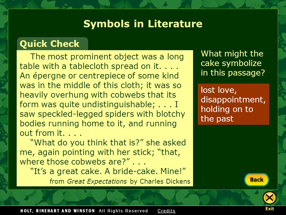 Symbols in Literature Quick Check
