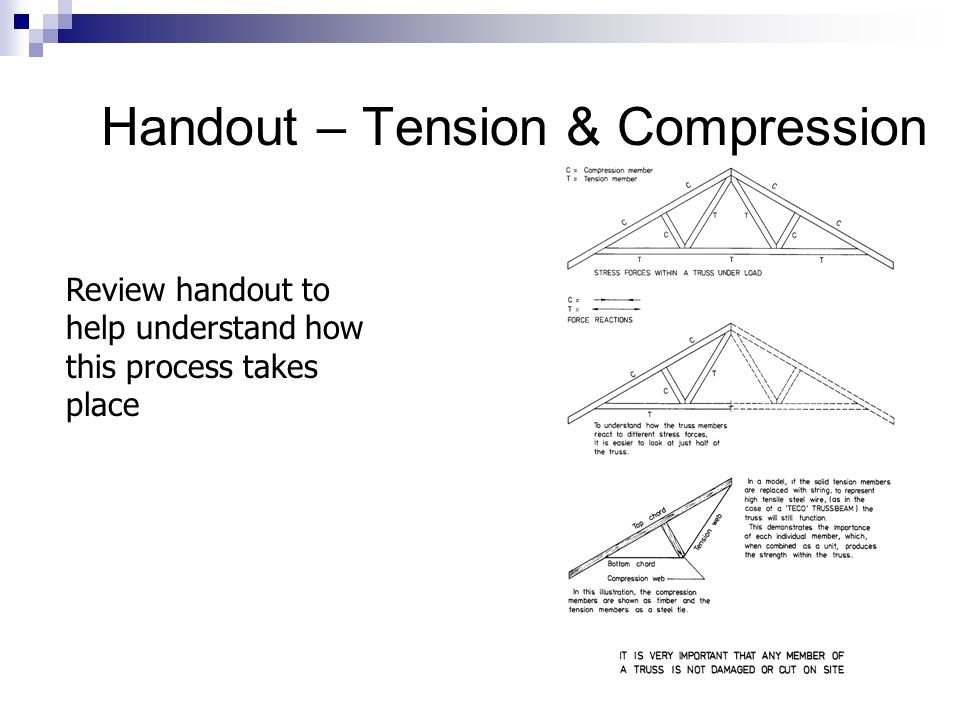 Handout – Tension & Compression