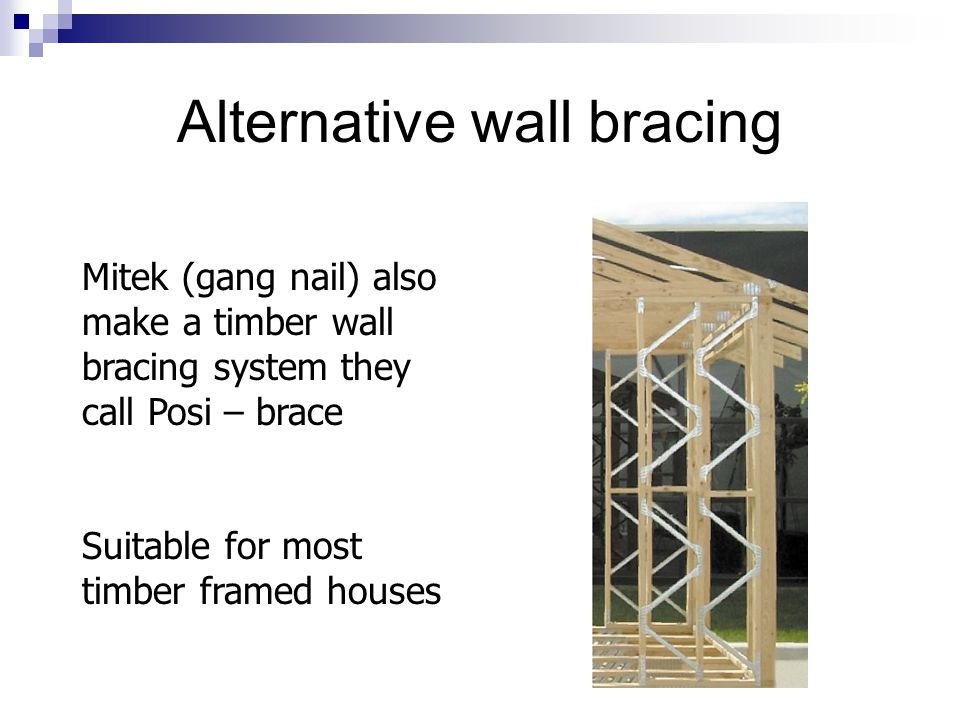 Alternative wall bracing