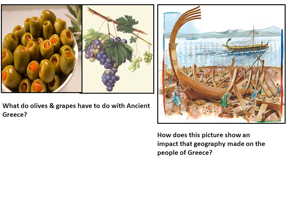 What do olives & grapes have to do with Ancient