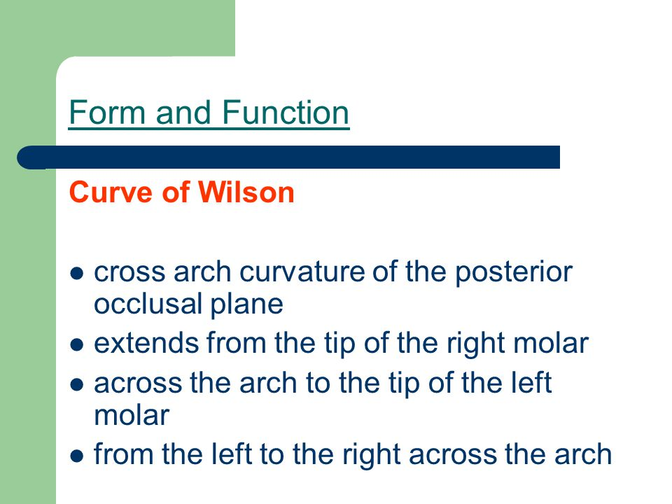 Form and Function Curve of Wilson